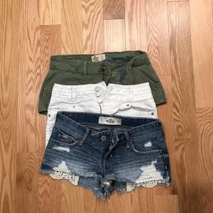 Bundle of 3 Shorts. Hollister and Blue Spice